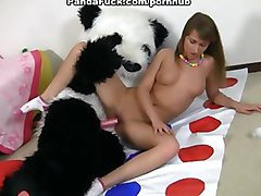 Twister games and hot sex with cute teen girl