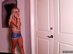 blonde babe tasha reign gets a lesbian b-day surprise!