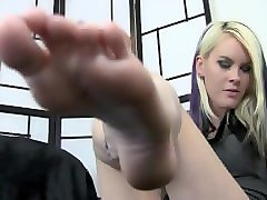 blonde foot humiliation joi