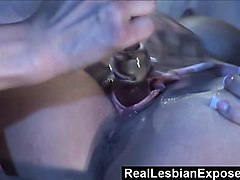 reallesbianexposed  horny babes make each others pussy flow