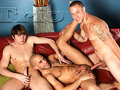 Austin Wilde & Angelo Romani & Campbell Stevens in TRIO XXX Video