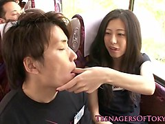 japanese teen dicksucking and fucking in orgy